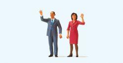 1:45 USA Präsident Obama und First Lady - Preiser 65360