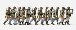 1:72 EDW Grenadiere vorgehend mit MG, unbemalt, 12 St.- Preiser 72527 Art.Nr.663-72527